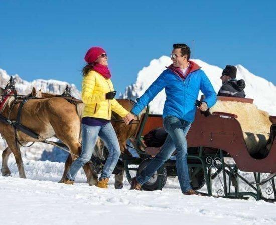 Winter holidays on the Alpe di Siusi